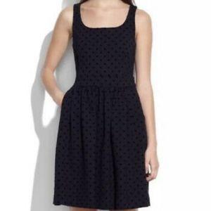 MADEWELL - Black Velvet Dot Dress